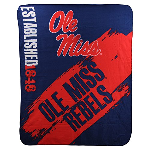 (The Northwest Company NCAA Collegiate School Logo Fleece Blanket (Ole Miss Rebels))