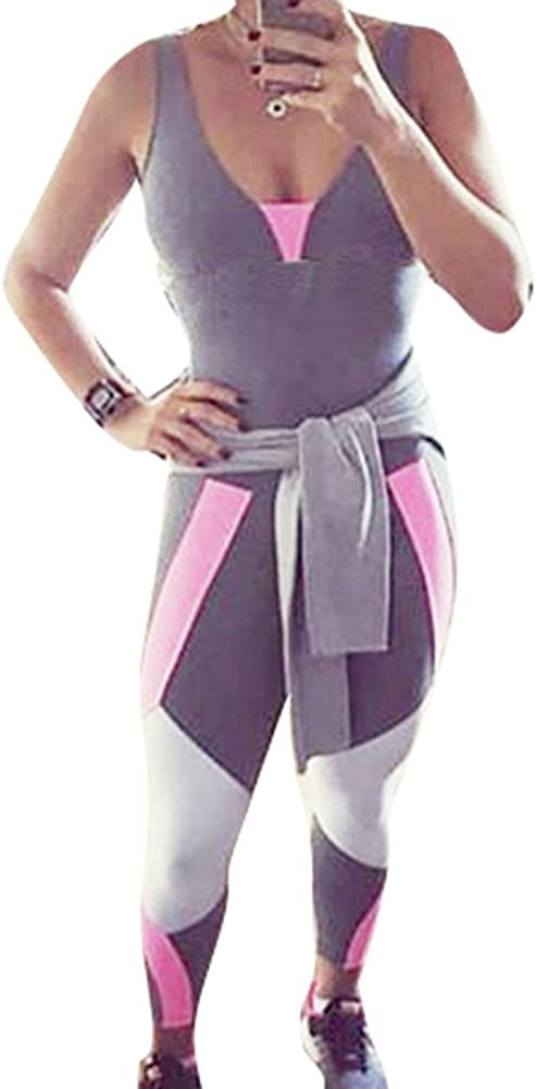 Chandal para Mujer Moda Fitness Deportivos Yoga Mono Sexy Cuello ...