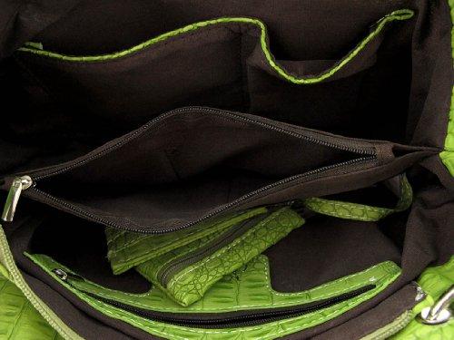 Verde Al Mujer Bolso Zeckos Para Hombro 15nwXxOPxq