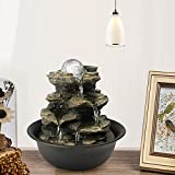 BBabe Spinning Orb Rock Cascading Tabletop