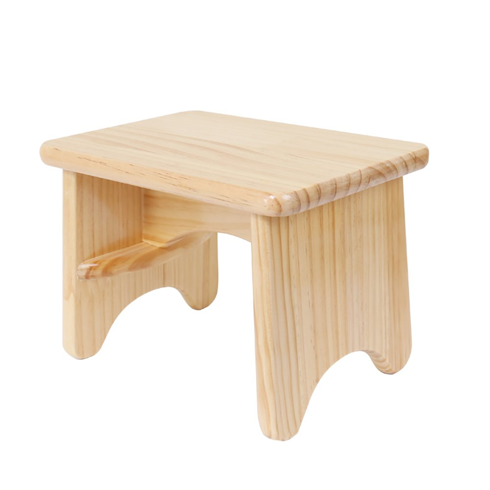 Wood Small Bench Low Stool Tea Table Stool Child Stool Square Stool Steppin Wooden Bench Bathroom Stool (Size : 20cm)