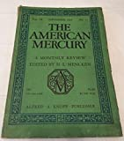 img - for The American Mercury, September 1926. [Volume IX No. 33] book / textbook / text book