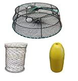 KUFA Sports (CT79+FYM403 Vinyl Coated Crab Ring Trap with Crabbing Accessory Combo