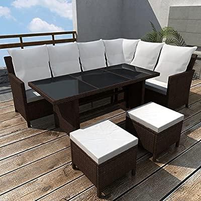 cangzhoushopping Set de Muebles de jardín 14 Piezas 8 ...
