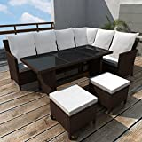 Festnight 4PC Outdoor Patio Garden Dining Sofa Sectional Set 8-Person Deal (Small Image)