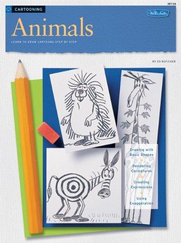 amazon com cartooning animals how to draw paint art instruction program ed nofziger books