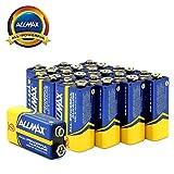 ALLMAX All-Powerful Alkaline Batteries- 9 Volt (12-Pack), Ultra Long Lasting, Leak-Proof, 9V Cell