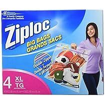Ziploc Big Bags, X-Large, Double Zipper