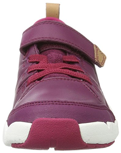 Clarks Tri Wish Jnr, Zapatillas Para Niñas Morado (Plum Leather)