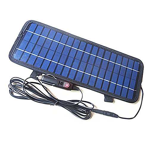 Alloet 12V/4.5W Smart Power Polycrystalline Silicon Solar Panel Battery Charger for Car Boat - Work Maintenance Capacity Kit Extended