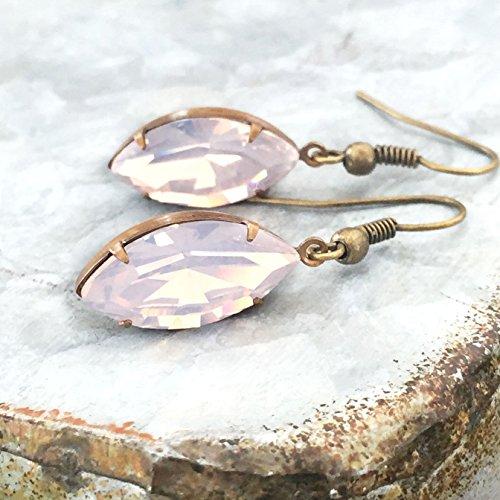 Pink Opalescent Vintage Rhinestone Drop