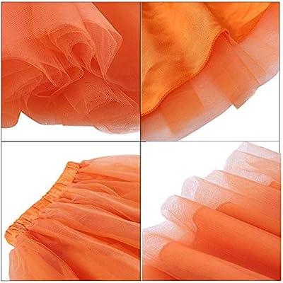 Women's Short Knee Length Tulle Skirt Tutu Evening Party Skirts for Girls at Women's Clothing store
