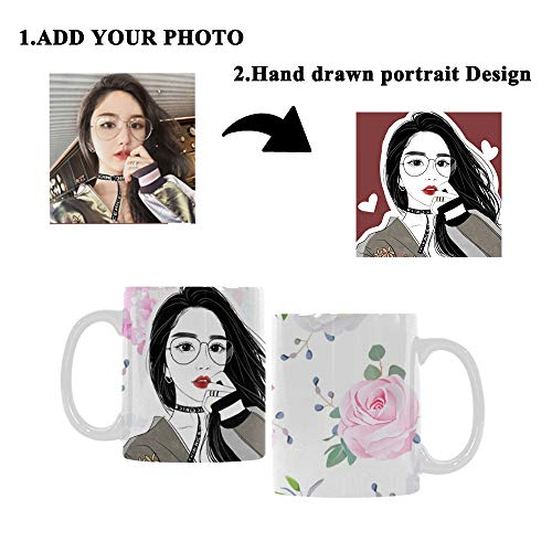 (Custom Personalized Coffee Mug Cup Small Wedding Bouquets Rose Peony Alstroemeria Print Your Photo To Customized Hand Drawn Best Gifts For Mom)