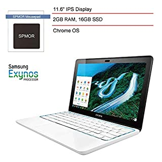 """(Renewed) HP 11.6"""" Chromebook Laptop Computer for Business Student, Samsung Dual Core Exynos 5250, 16GB Solid State Drive, 2GB DDR3L RAM, 802.11n WiFi, Bluetooth 4.0, Chrome OS + SPMOR Mousepad"""