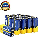 ALLMAX All-Powerful Alkaline Batteries- 9 Volt (12-Pack), Ultra Long Lasting, Leak-Proof, 9V Cell Non Rechargeable