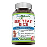 Pure Naturals Red Yeast Rice, 1200 Mg per 2