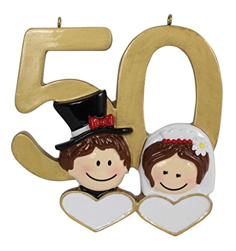 Personalized 50th Anniversary Gift Golden Wedding Ornament