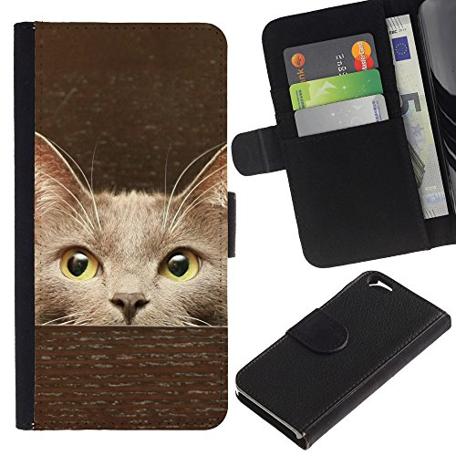 EuroCase - Apple Iphone 6 4.7 - singapura Somali tokinese shorthair cat - Cuir PU Coverture Shell Armure Coque Coq Cas Etui Housse Case Cover