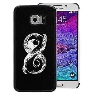 Red-Dwarf Colour Printing Infinite Octopus Mysterious Monster - cáscara Funda Case Caso de plástico para Samsung Galaxy S6 EDGE SM-G925