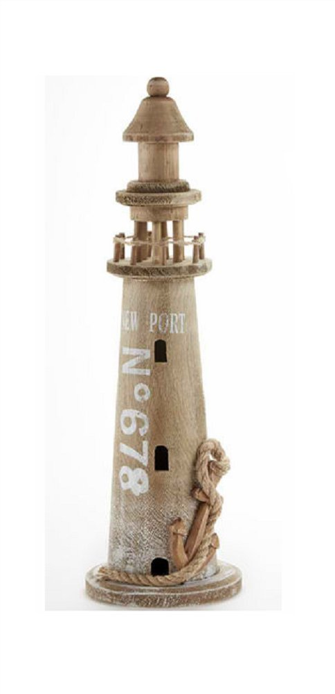 Delton Products Wooden 5.50 inches x 17.90 inches Lighthouse Home Decor