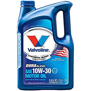 Amazon Com Valvoline 10w 30 Durablend Synthetic Blend