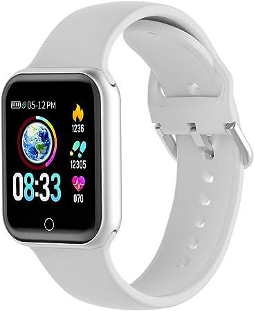 KUNGIX Montre Connectée Femmes Homme,Bluetooth Smartwatch Tension Artérielle Montre Sport Podomètre Moniteur de fréquence Cardiaque pour Android iOS.