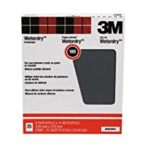 3M Wet or dry Sanding Sheets, 180C-Grit, 9-Inch by 11-Inch, 25-Pack