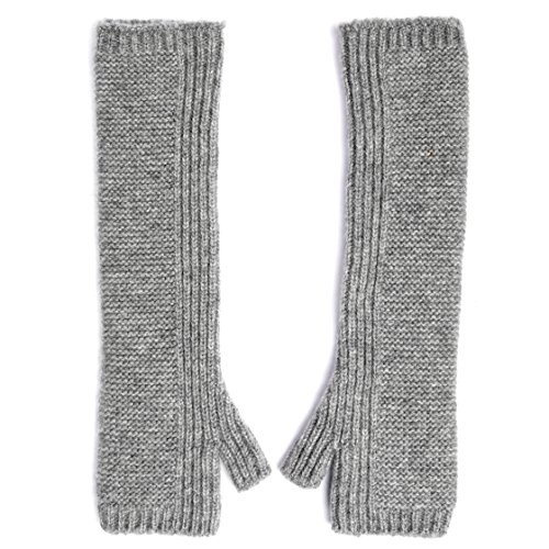 Graham Cashmere Women's Pure Cashmere Long Length Purl Wristwarmers