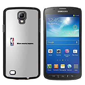 Qstar Arte & diseño plástico duro Fundas Cover Cubre Hard Case Cover para Samsung Galaxy S4 Active i9295 (Increíble Baloncesto)