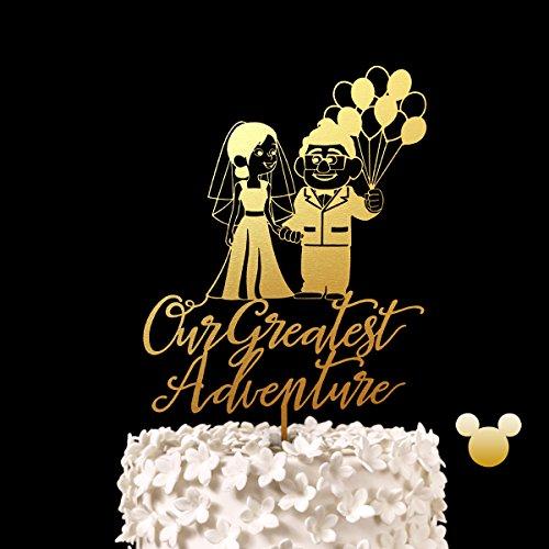 UP Our Greatest Adventure Couple Wedding Cake Topper - Keepsake Disney Wedding Cake Toppers