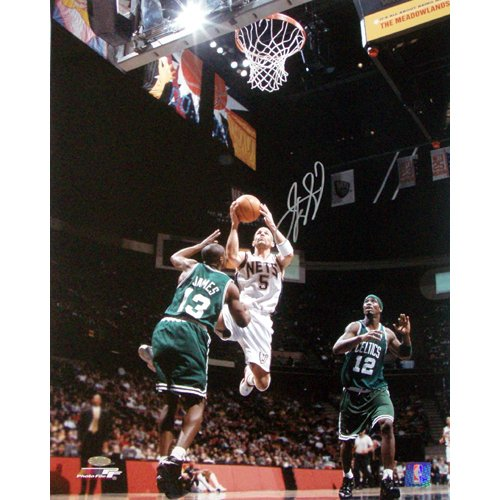 NBA New Jersey Nets Jason Kidd Home Lay-Up vs. Celtics Photograph, 16x20-Inch