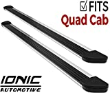 Ionic Gladiator Brite Running Boards (fits) 2015-2018 Dodge Ram Quad Cab