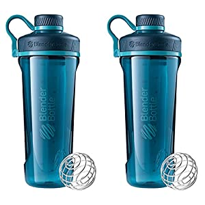 2 Pack Blender Bottle Radian 32 oz. Tritan Shaker Bottle with Loop Top ( Deep Sea Green)