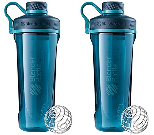 Tank Buddies 100 Tab (2 Pack Blender Bottle Radian 32 oz. Tritan Shaker Bottle with Loop Top ( Deep Sea Green))