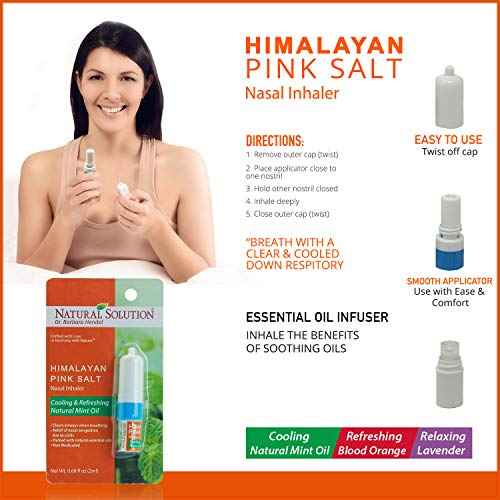 51I113s1tiL - Natural Solution Organic Personal Care Travel Gift Set 2 Items | Nasal Inhaler and Ceramic Salt Inhaler