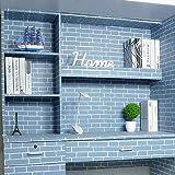 LIFAVOVY Blue Brick Pattern Peel and Stick