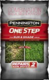 Pennington One Step Complete for Sun & Shade Areas, Bare Spot Repair Grass Seed Mix, 8.3 lb