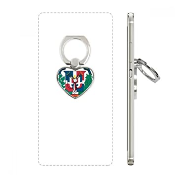 Dominican Republic National Emblem Country Cell Phone Ring Stand Holder Bracket Universal Smartphones Support Gift