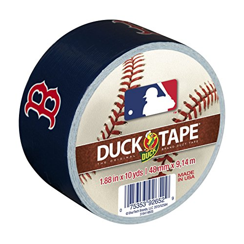Duck Brand 240687 Boston Red Sox MLB Team Logo Duct Tape, 1.88-Inch by 10-Yard, ()