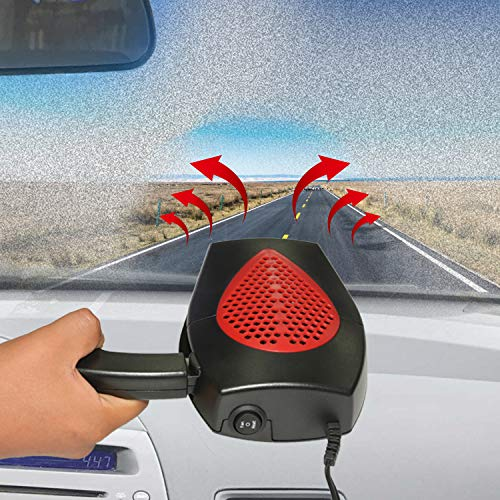 Portable Car Heater STYLOOC 60 Seconds Fast Heating Defrost Defogger Demister Vehicle Heat Cooling Fan