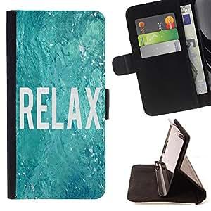 - Relax - - Monedero PU titular de la tarjeta de cr?dito de cuero cubierta de la caja de la bolsa FOR Sony Xperia Z1 Compact D5503 Retro Candy