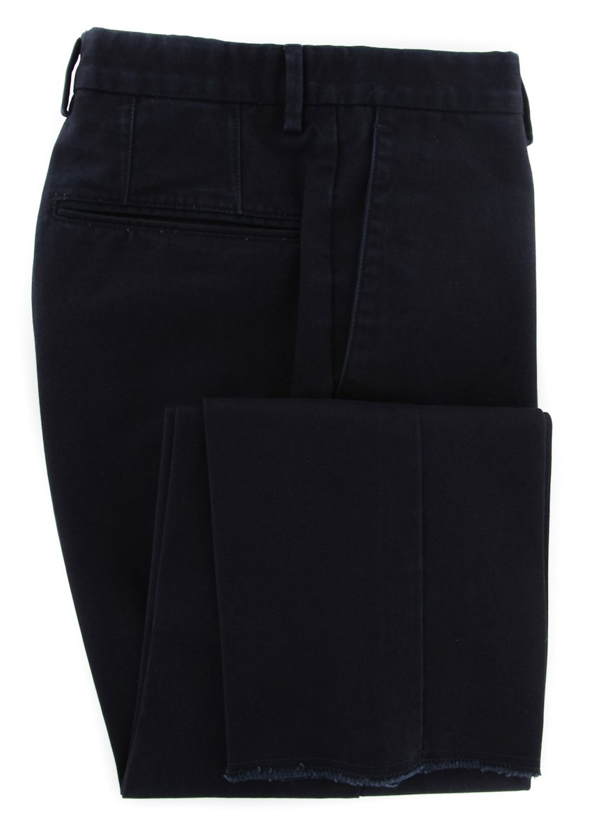 Incotex Midnight Navy Blue Solid Pants - Slim - 40/56