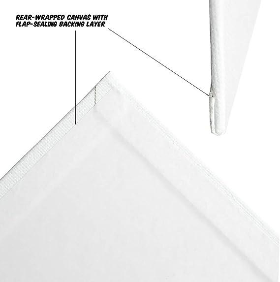 Markin Arts Juliet Series Swedish Pinewood Acid//Discolor Free 100/% Cotton 10oz Triple Titanium Acrylic Gesso Primed Horizontal Vertical Long Stretched Art Canvas Home D/écor Oil Paint 8x16 2-Pack