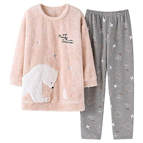 50kg Female Can 30 Pajamasx 168cm Service Pajamas Be 58 65kg Winter M150 And Xl162 Worn Home Velvet Flannel Warm Coral Outside 162cm Autumn Thick q4qTwgFt