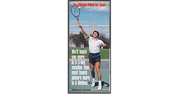 Killington School For Tennis brochure 1988 VT at Amazons Entertainment Collectibles Store