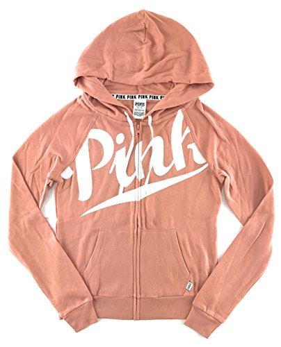 Victoria's Secret Pink Perfect Zip Hoodie Bronzer X-Small