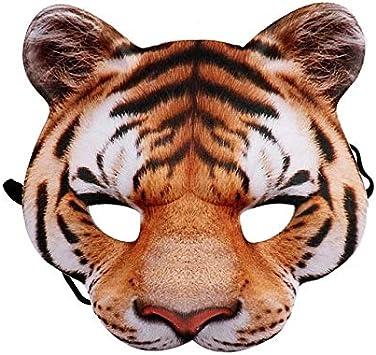 YRLHMMJ Máscara de Terror Espeluznante Tigre Animal de Peluche de ...