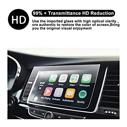 2018 2019 Buick Encore 8 Inch IntelliLink Car in-Dash Center Navigation  Screen Display Trapezoid Tempered Glass Protector Protective Film