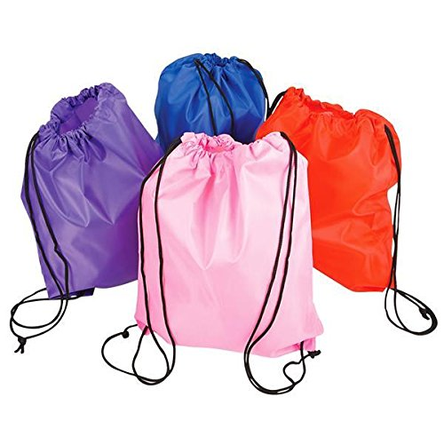 15.5''X13'' ASSORTED NYLON BACKPACKS, Case of 72 by DollarItemDirect