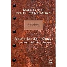 Quel futur pour les métaux ?: Raréfaction des métaux : un nouveau défi pour la société (French Edition)